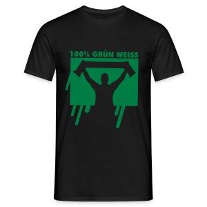 100% Grün-Weiß - Männer T-Shirt