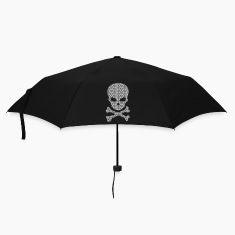 A patterned Skull Umbrellas