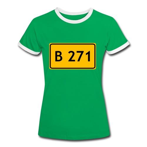 B 271 - Frauen Kontrast-T-Shirt