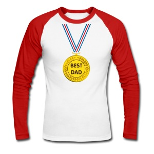 Best dad - Men's Long Sleeve Baseball T-Shirt