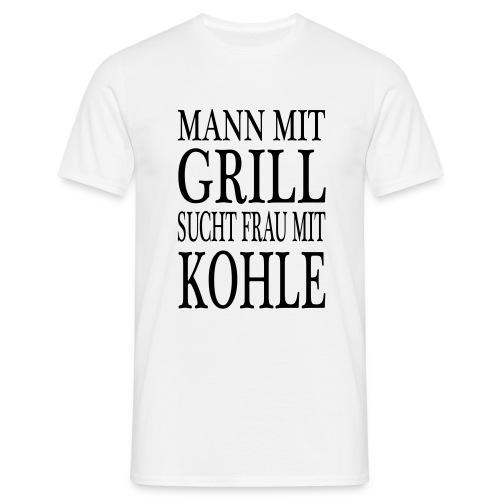 Mann mit Grill - Männer T-Shirt