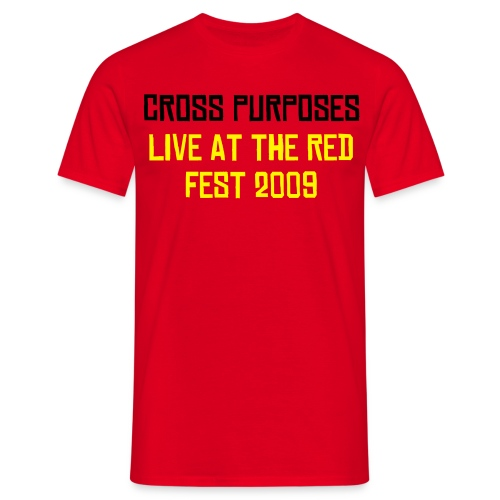 CROSS PURPOSES RED T - Men's T-Shirt