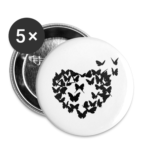 Herz Button - Buttons klein 25 mm