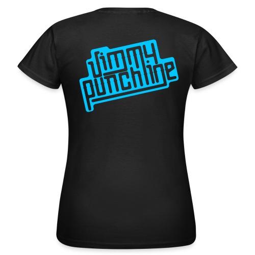 T-Shirt - Motif bleu pour femme - T-shirt Femme