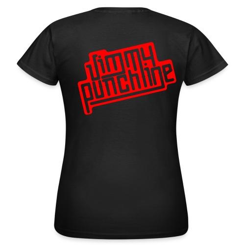 T-Shirt - Motif rouge pour femme - T-shirt Femme