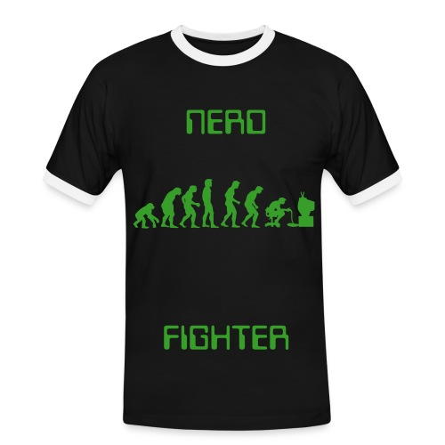 Mens Nerd Fighter T-shirt - Men's Ringer Shirt