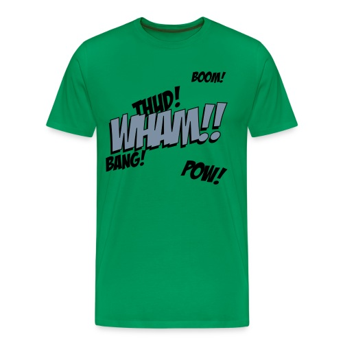 Mens Green Comic T-shirt - Men's Premium T-Shirt
