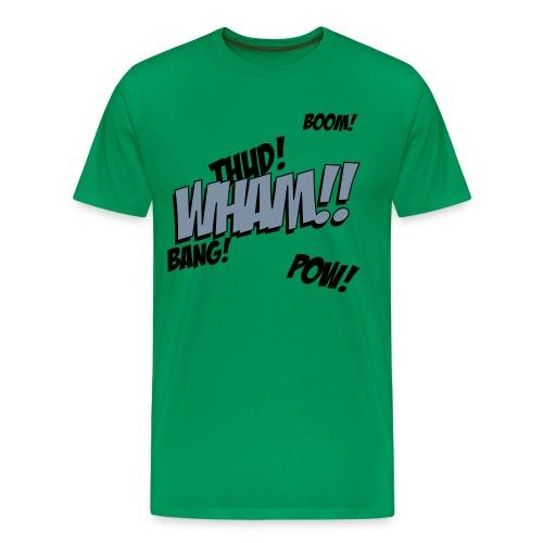 Mens Green Comic T-shirt - Men's Premium T-Shirt