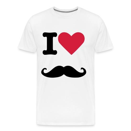 Hipster Bart - Männer Premium T-Shirt