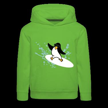 Verde Surf pinguino / penguin (3c) Pullover bambini