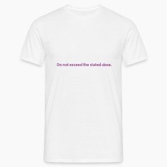White do not exceed Men's Tees