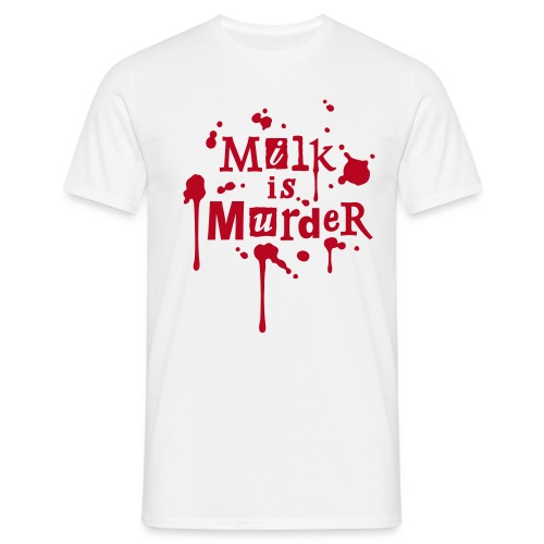 Mens Shirt 'MILK is Murder' W - Männer T-Shirt