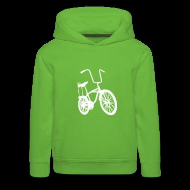 Green old school retro bike Kid's Tops