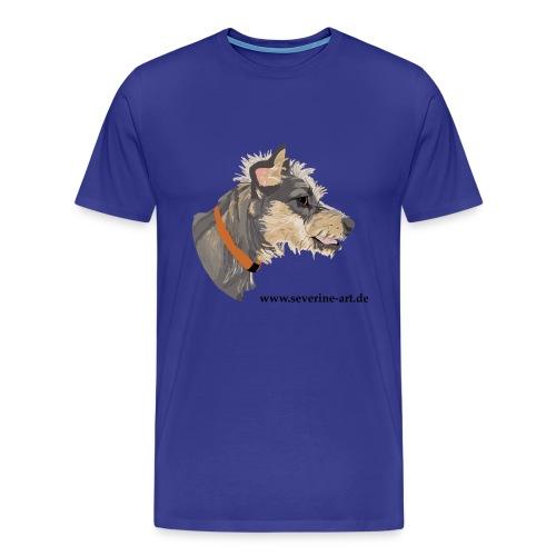 Hundekopf mit Iro - Männer Premium T-Shirt