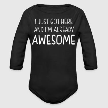 Awesome Baby - Organic Longsleeve Baby Bodysuit