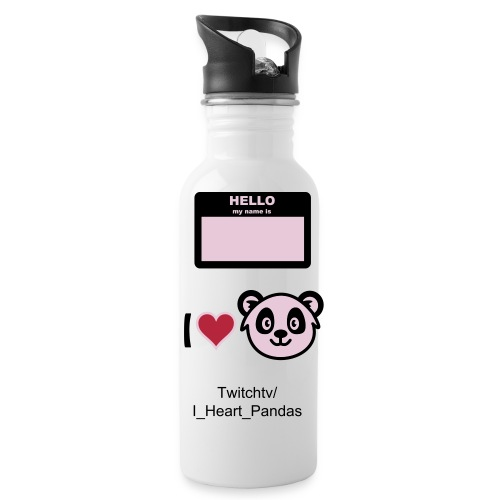 I_Heart_Pandas drinking bottle  - Water Bottle