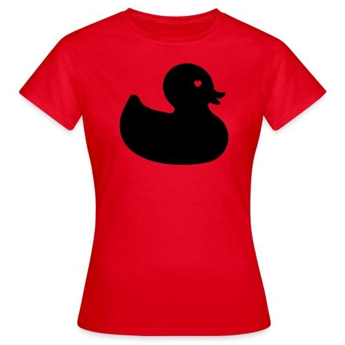 Ente mit Herz - Frauen Shirt - Frauen T-Shirt