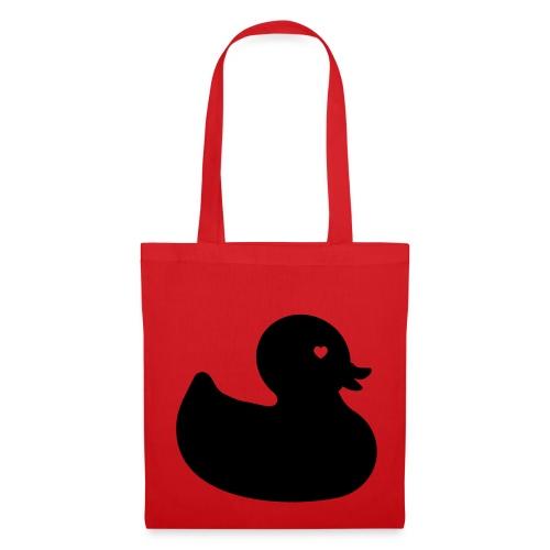 Ente mit Herz - Stoffbeutel - Stoffbeutel