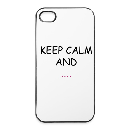 Keep Calm And Eat Biscuits - Custodia rigida per iPhone 4/4s