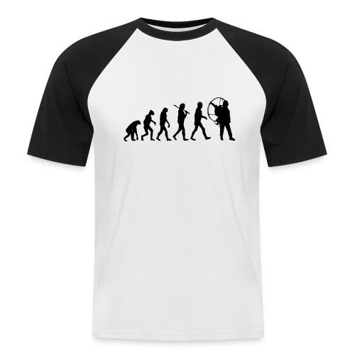Evolution - Männer Baseball-T-Shirt