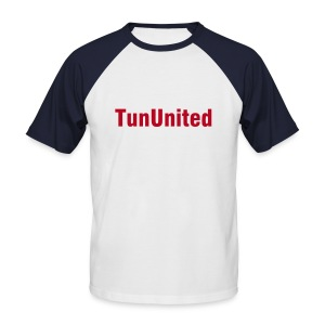 Tshirt TunUnited blanc et rouge - T-shirt baseball manches courtes Homme