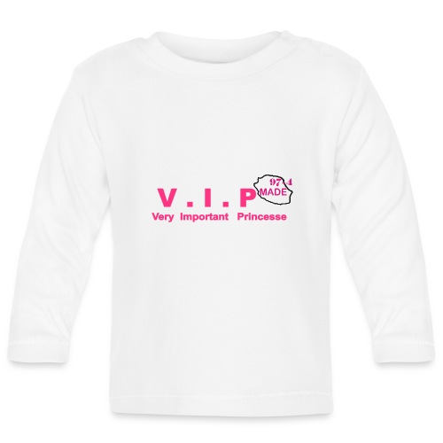 T-shirt manches longues Bébé Princesse - T-shirt manches longues Bébé