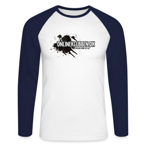 Klub LOGO - Langærmet herre-baseballshirt
