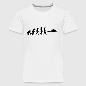 Evolution Schwimmen T-Shirts - Teenager Premium T-Shirt