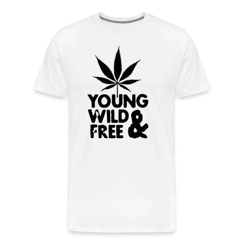 T SHIRT YOUNG WILD & FREE  - T-shirt Premium Homme