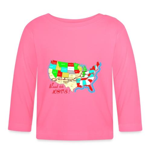 TS MANCHES LONGUES ROSE PLACE COEUR - T-shirt manches longues Bébé