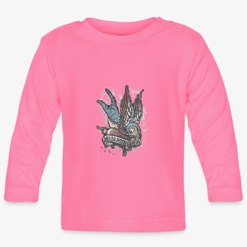 Vintage bird tattoo distressed - Baby Long Sleeve T-Shirt