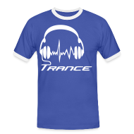 T-Shirts ~ Men's Ringer Shirt ~ Trance headphones