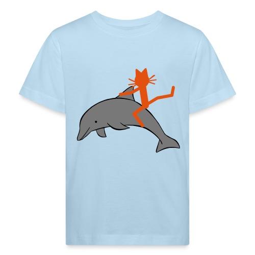 Kindershirt Katze Kittycat Delfin - Kinder Bio-T-Shirt