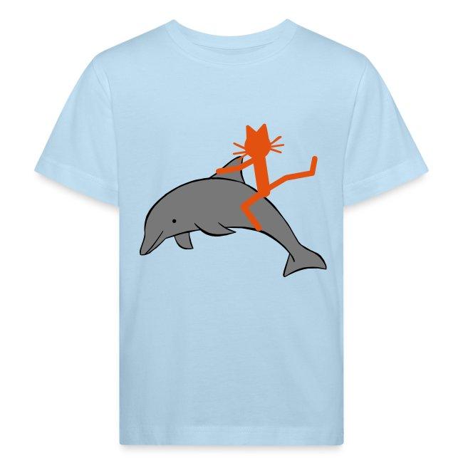 Kindershirt Katze Kittycat Delfin