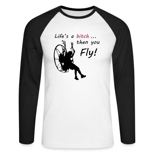 then you fly - Männer Baseballshirt langarm