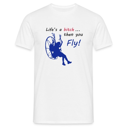 then you fly White - Männer T-Shirt