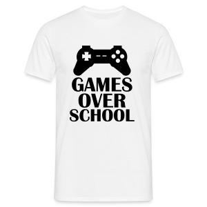 Games Over School  - Men's T-Shirt