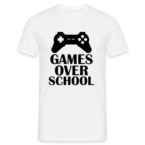 Games Over School  - Men's T-Shirt