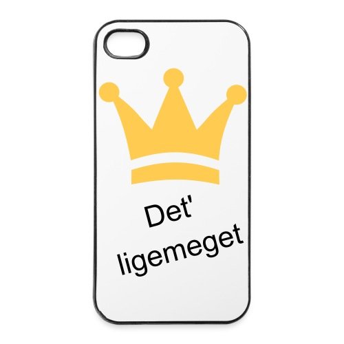 iPhone 4/4S cover - 'Det''ligemeget' - iPhone 4/4s Hard Case