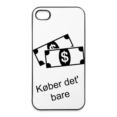 iPhone 4/4S cover - 'Køber det bare' - iPhone 4/4s Hard Case