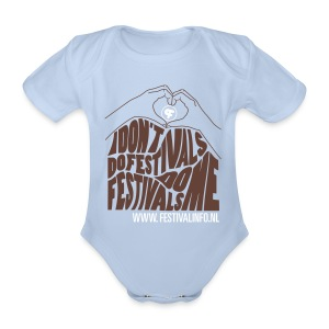 Festivals do me hartje (baby) - Baby bio-rompertje met korte mouwen