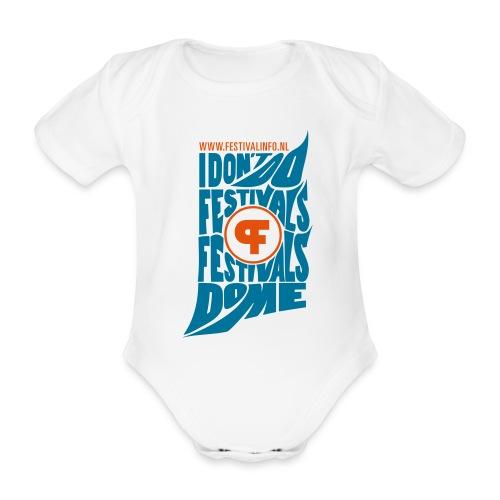 Festivals do me (baby) - Baby bio-rompertje met korte mouwen