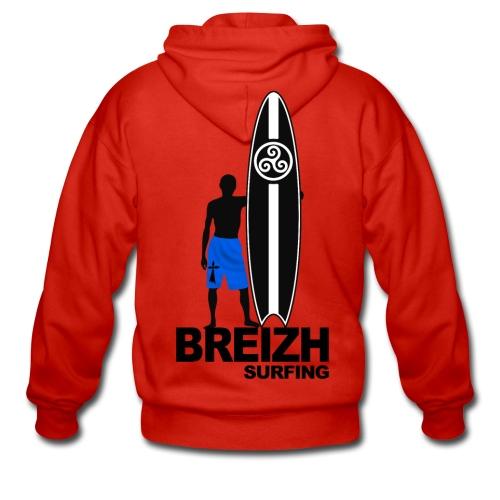 Breizh Bretagne surfing - Men's Premium Hooded Jacket