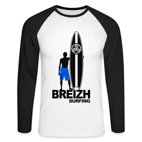 Breizh Bretagne surfing - Men's Long Sleeve Baseball T-Shirt