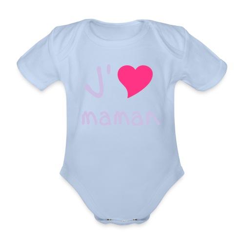 baby loves mum  - Organic Short-sleeved Baby Bodysuit