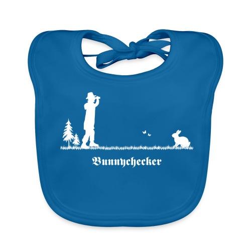 fun tier t-shirt bunnychecker bunny checker hase jäger bayern party - Baby Bio-Lätzchen