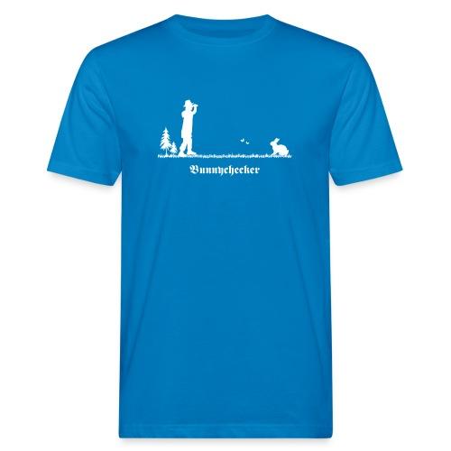 fun tier t-shirt bunnychecker bunny checker hase jäger bayern party - Männer Bio-T-Shirt