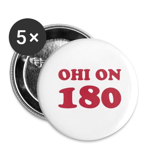 Ohi on 180 rintamerkki - Rintamerkit pienet 25 mm (5kpl pakkauksessa)