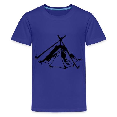Wieviel Zelt braucht der Mensch? - Kothe - Teenager Premium T-Shirt