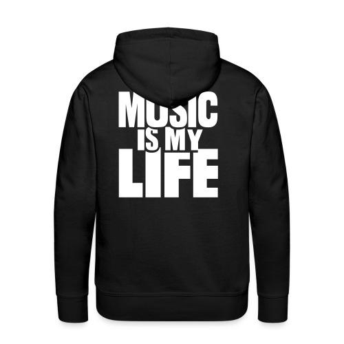 Music is my life! - Men's Premium Hoodie